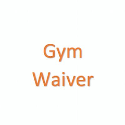 Gym Waiver